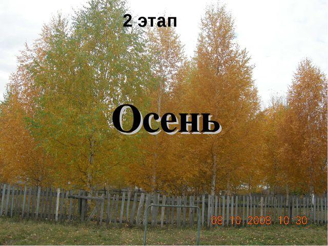 2 этап Осень