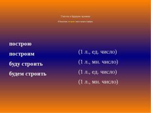 Глаголы в будущем времени В Казахстане построят много заводов и фабрик. постр