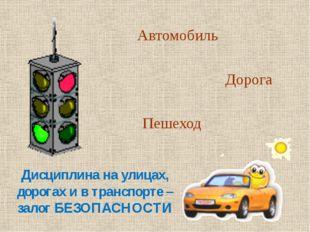 Автомобиль Дорога Пешеход Дисциплина на улицах, дорогах и в транспорте – зал