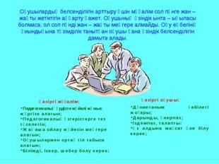 Педагогикалық үрдісте жүйелі жұмыс жүргізе алатын; Педагогикалық өзгерістерге