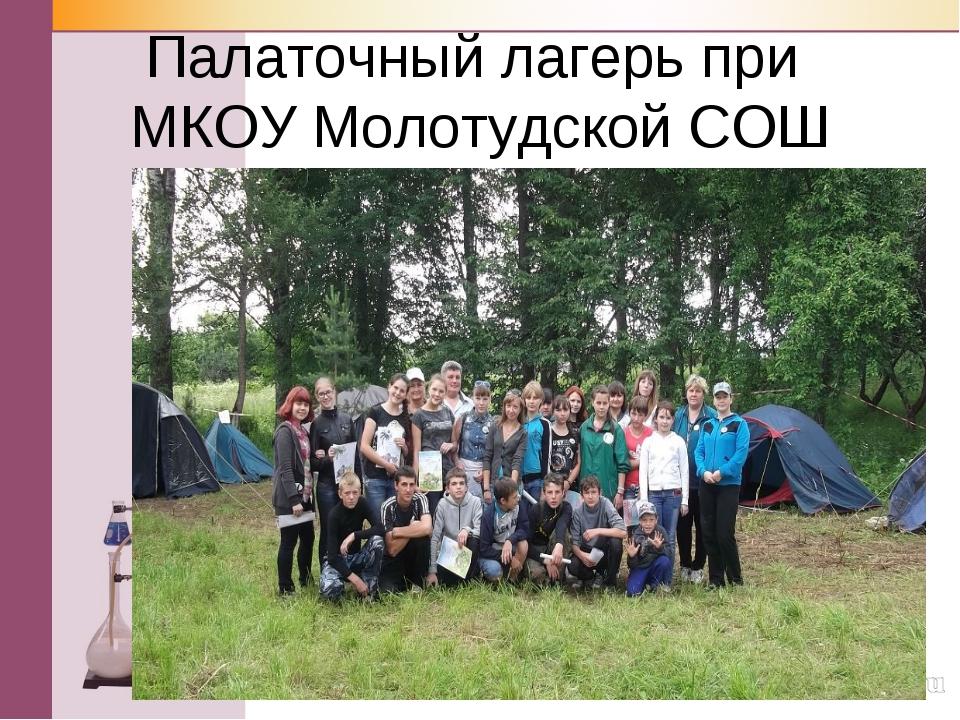 Палаточный лагерь при МКОУ Молотудской СОШ