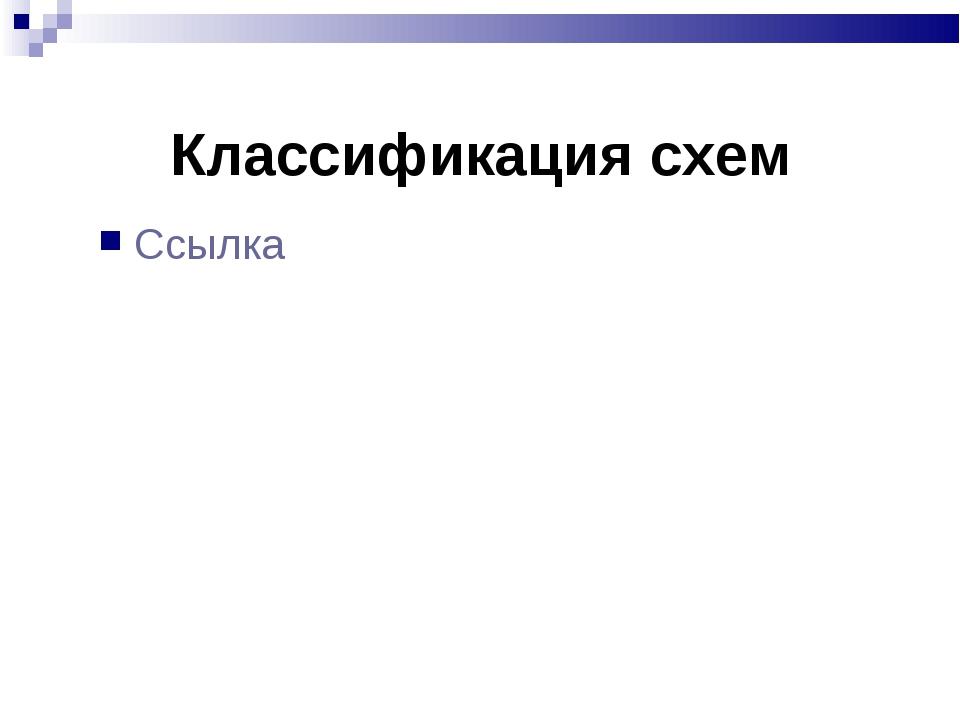Классификация схем Ссылка