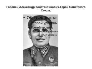 Горовец Александр Константинович-Герой Советского Союза.