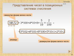 Задание 6. Сравни числа: а) 1102 и 1103 б) 5506 и 5058 в) Е316 и 378 Тихонова
