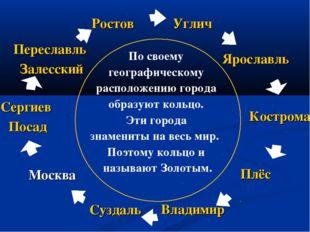 По своему географическому расположению города образуют кольцо. Эти города зна