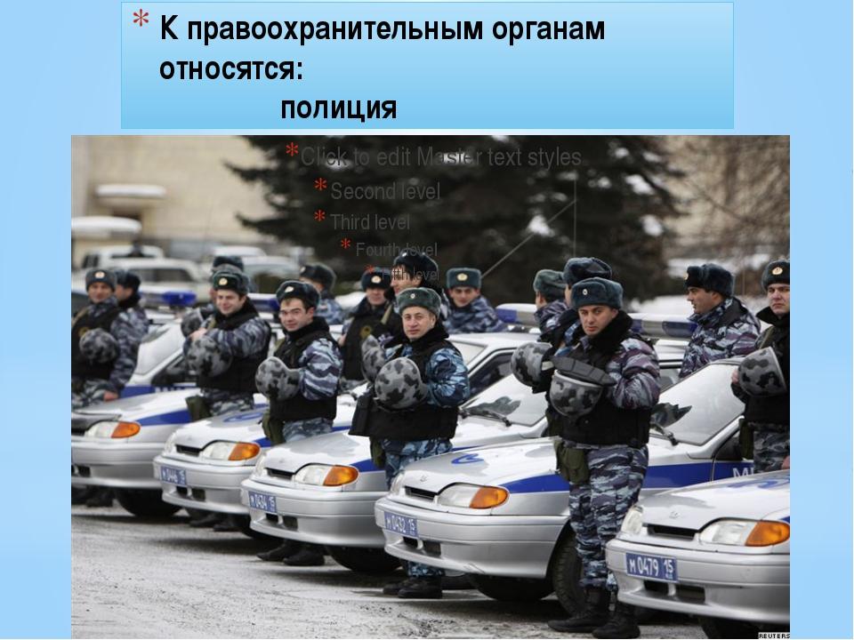 К правоохранительным органам относятся: полиция