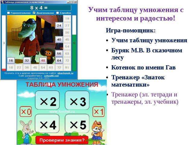 Учим таблицу умножения с интересом и радостью! Игра-помощник: Учим таблицу ум...