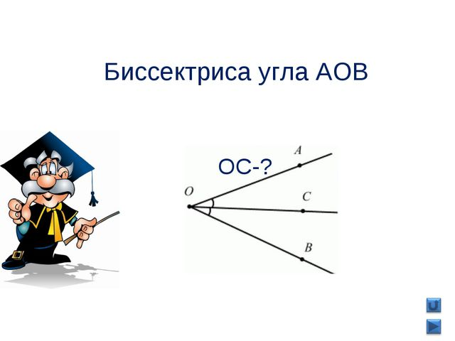 ОС-? Биссектриса угла AOB