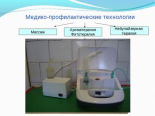 Медико-профилактические технологии Массаж Ароматерапия Фитотерапия Небулайзер