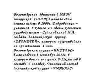 Дата создания Волонтёрской группы Волонтёрское движение в МБОУ Бичурская СОШ