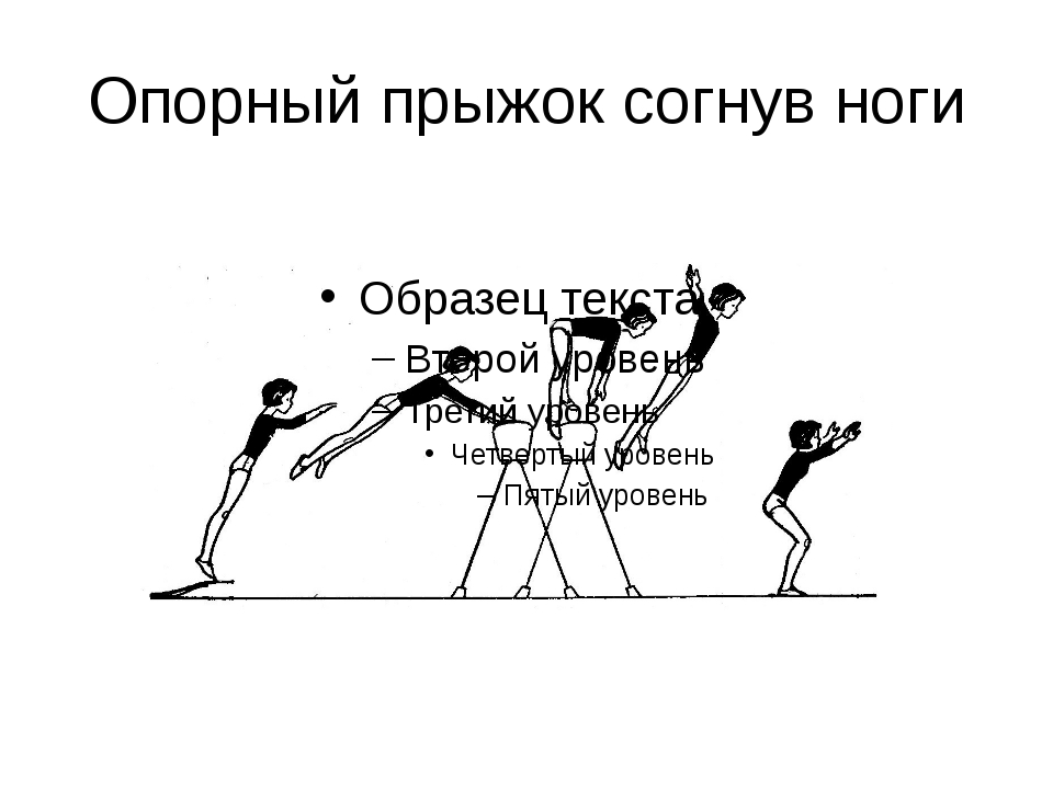 Опорный прыжок согнув ноги