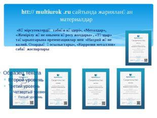 htt:// multiurok .ru сайтында жарияланған материалдар «Көмірсутектердің табиғ