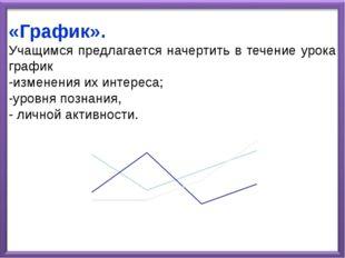 «График». Учащимся предлагается начертить в течение урока график -изменения и