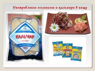Употребление осьминога и кальмара в пищу