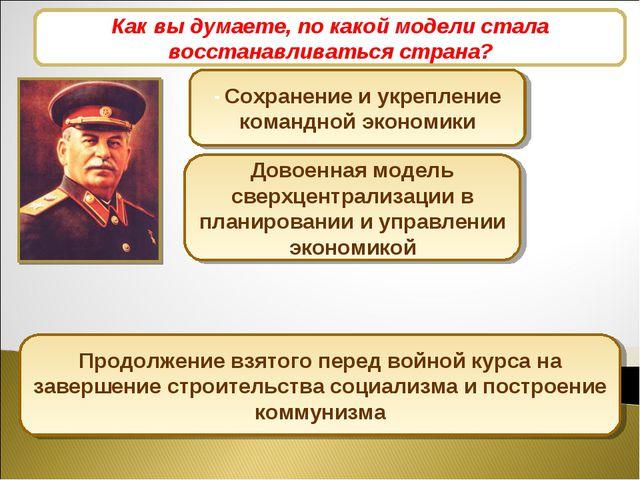 Экономические дискуссии 1945-1946 гг. - Сохранение и укрепление командной эко...