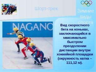 Шорт-трек Зимние виды спорта Вид скоростного бега на коньках, заключающийся в