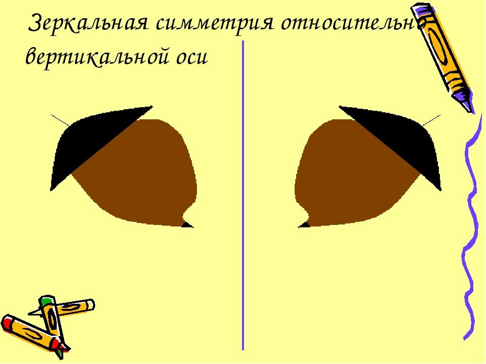 Зеркальная симметрия относительно вертикальной оси