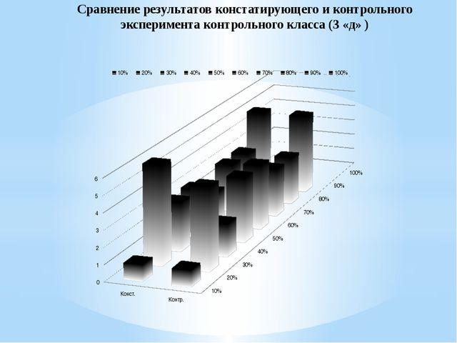 Сравнение результатов констатирующего и контрольного эксперимента контрольно...