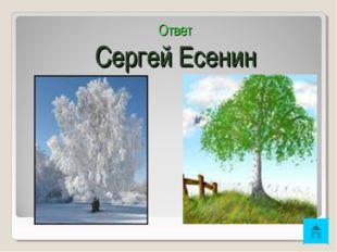 Ответ Сергей Есенин