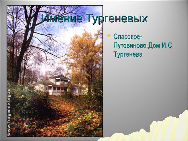 Имение Тургеневых Спасское-Лутовиново.Дом И.С. Тургенева