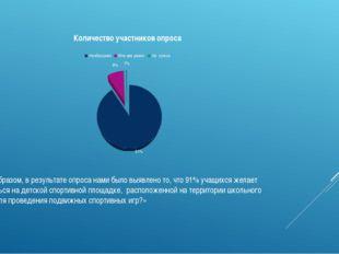 Таким образом, в результате опроса нами было выявлено то, что 91% учащихся же