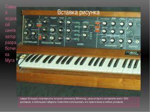 Самый ходовой синтезатор разработчика Муга самую большую популярность получил