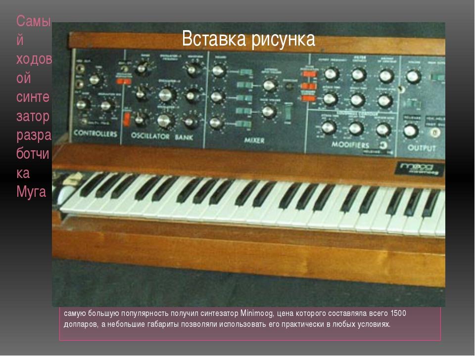 Самый ходовой синтезатор разработчика Муга самую большую популярность получил...