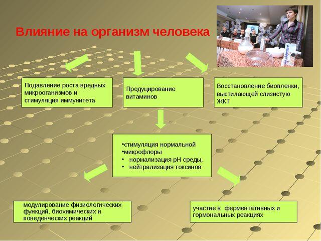 Влияние на организм человека стимуляция нормальной микрофлоры нормализация р...