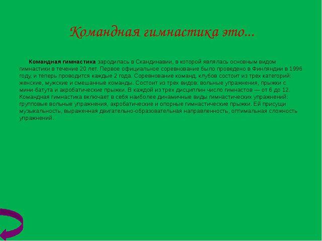 Акробатическая гимнастика Акробатическая Гимнастика(ранее названнаяСпортивн...