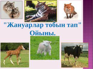 """""""Жануарлар тобын тап"""" Ойыны."""