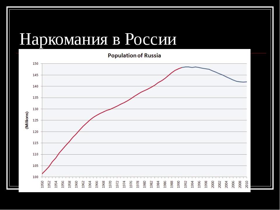 Наркомания в России