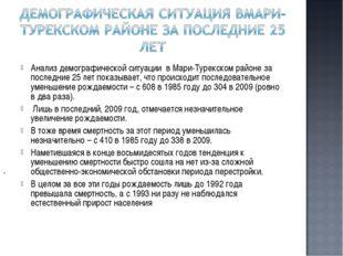 . Анализ демографической ситуации в Мари-Турекском районе за последние 25 лет