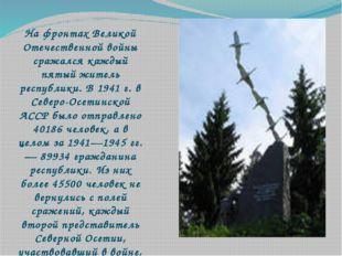 На фронтах Великой Отечественной войны сражался каждый пятый житель республи