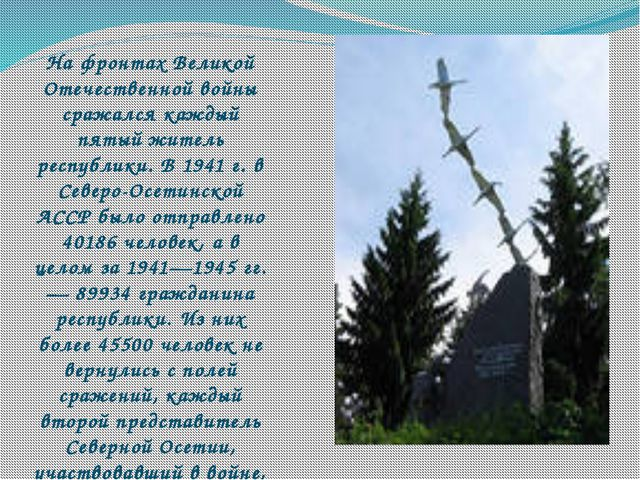 На фронтах Великой Отечественной войны сражался каждый пятый житель республи...
