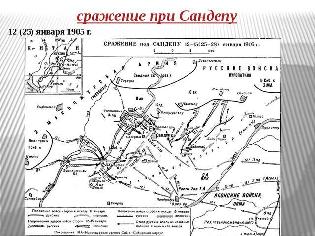 сражение при Сандепу 12 (25) января 1905 г.