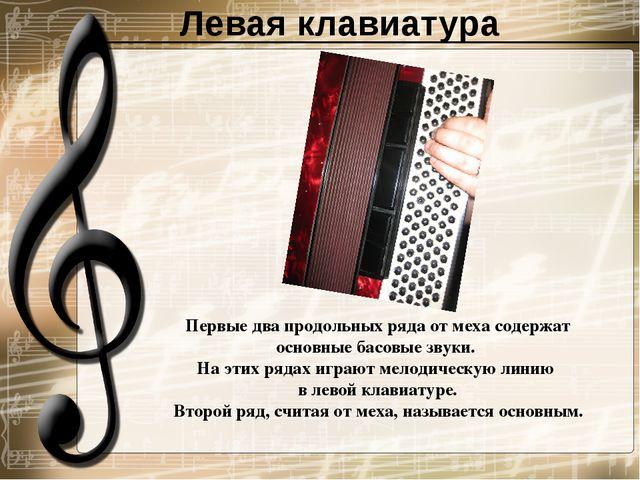 Левая клавиатура