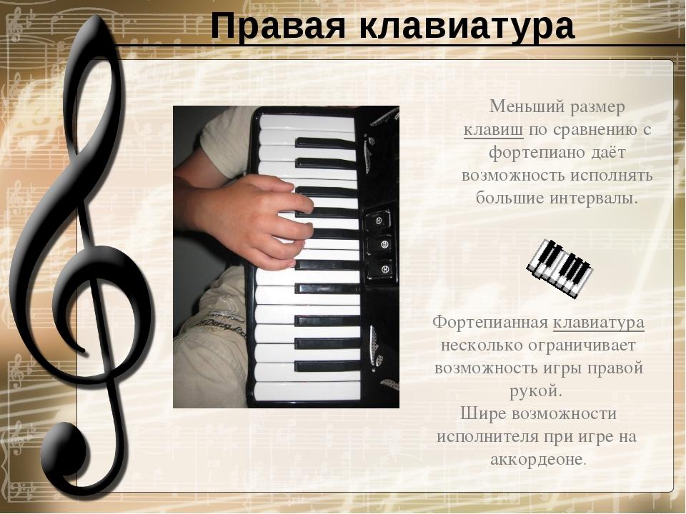 Правая клавиатура
