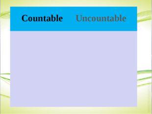 CountableUncountable