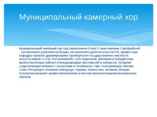 Муниципальный камерный хор под управлением Ольги Станиславовны Серебрийской -