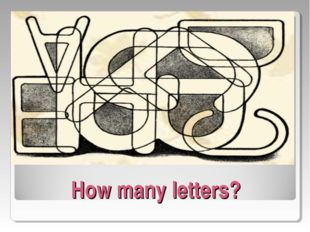 How many letters?