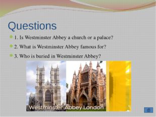 Questions 1. Who built St. Paul's Cathedral? 2. When was it built? 3. What hi