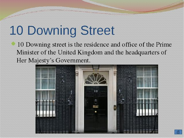Downing Street is located in the Whitehall in the central London, a few minut...