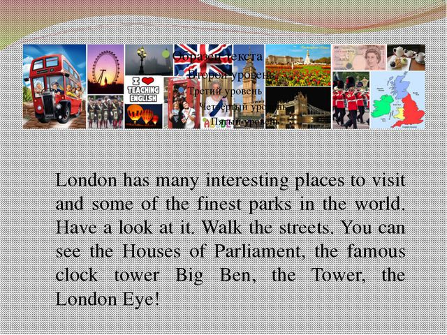 London has many interesting places to visit and some of the finest parks in t...