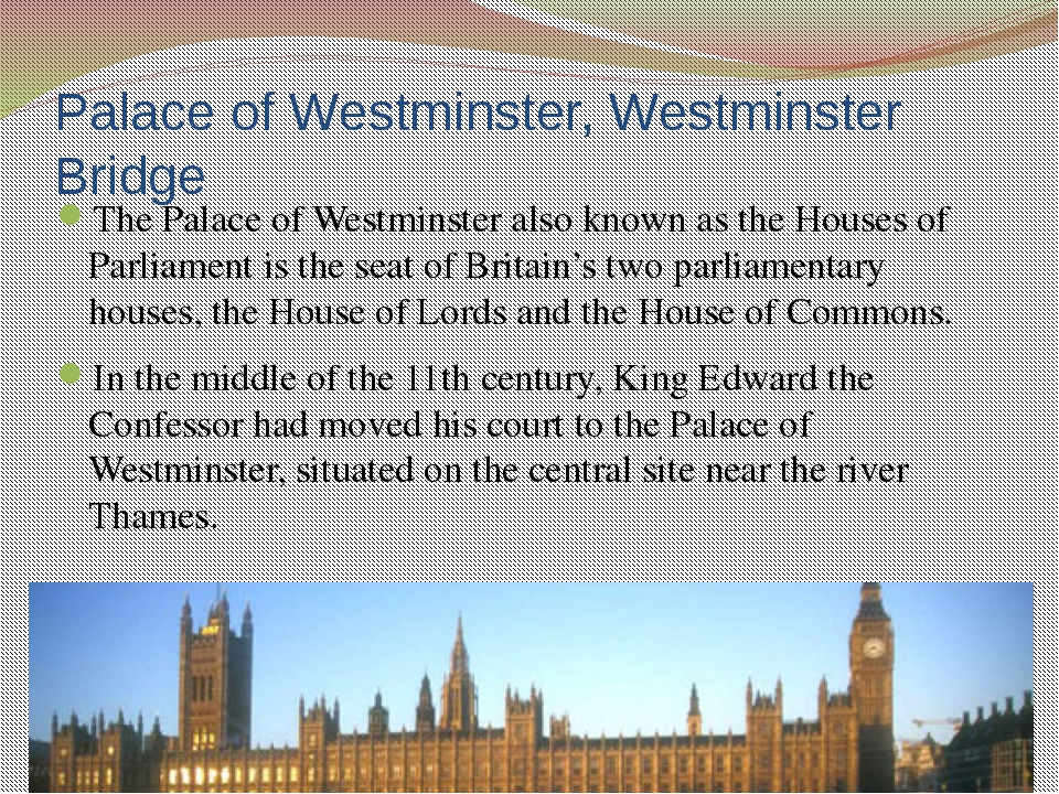It links the Palace of Westminster on the west side of the river with county...