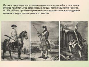 Пытаясь предотвратить вторжение крымско-турецких войск в свои земли, русское
