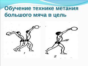 Обучение технике метания большого мяча в цель