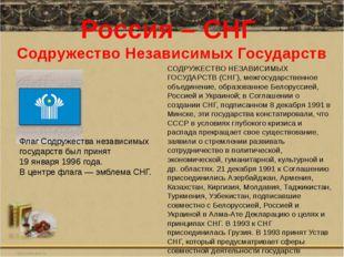 Россия – СНГ Содружество Независимых Государств Флаг Содружества независимых