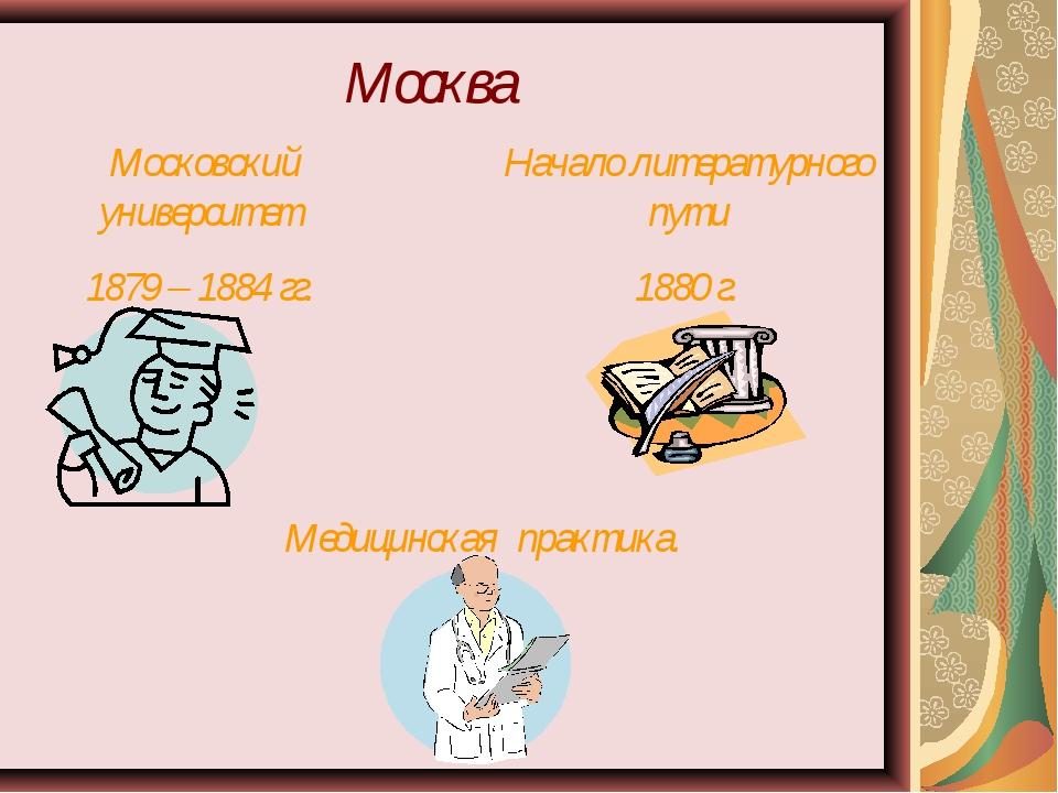 Москва Московский университет 1879 – 1884 гг. Начало литературного пути 1880...