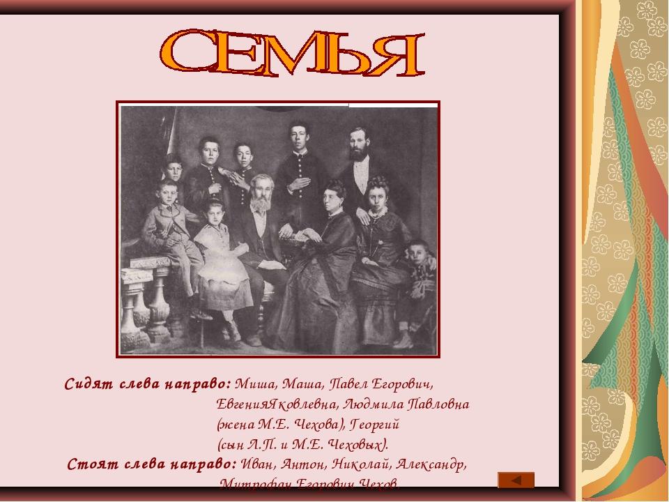 Сидят слева направо: Миша, Маша, Павел Егорович, ЕвгенияЯковлевна, Людмила Па...