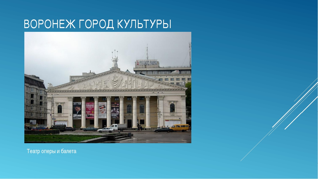 ВОРОНЕЖ ГОРОД КУЛЬТУРЫ Театр оперы и балета
